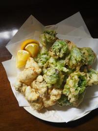 ふきのとうの天ぷら&フリット、ローストビーフ 、ビーフステーキ - エリンゲル日記