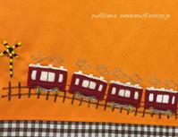 阪急電車の絵本バッグ - puffsleeve
