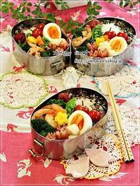 エビとブロッコリーの黒胡椒炒め弁当と雛祭りメニュー♪ - ☆Happy time☆