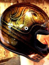 古いタイプのシンプソンヘルメットのペイント - Islandking  custom  works