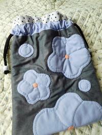 梅の巾着&ランチョンマット - eri-quilt日記2