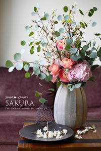FLOWER #30 啓翁桜*お雛祭りに桜のシャンペトル - フォトジェニックな日々