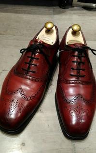 【Edward Green】キズを目立たなく仕上げてみました【INVERNESS】 - シューケアマイスター靴磨き工房 銀座三越店