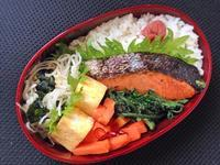 3/7鮭弁当 - ひとりぼっちランチ