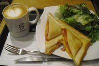caffe bene(カフェベネ)『ピザサンドセット』 - My favorite things