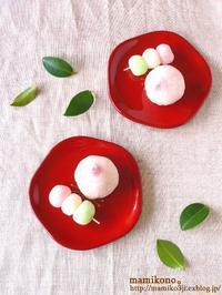 レンジで作る和菓子②苺大福。 - mamikono。~ハレの日のお菓子~