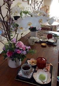 今月は桜と胡蝶蘭のフラワーアレンジレッスン - coco diary 山口県 お花と絵とテーブルコーディネートレッスン