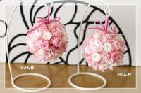 ゆるふわ桜色の手毬* レッスン - Flower letters