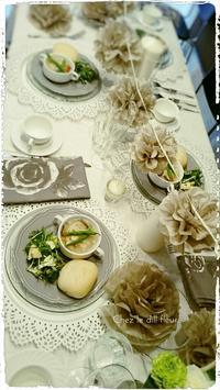 福岡フラワーアレンジメント教室・テーブルコーディネート - 福岡パリスタイルフラワーアレンジメント教室 Chez le dill fleur   シェ・ル・ディル・フルール