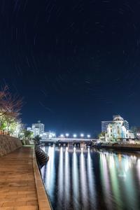 原爆ドームと星空 - 写真ブログ「四季の詩」