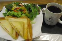 caffe bene(カフェベネ)『ハムたまごチーズサンドセット』 - My favorite things