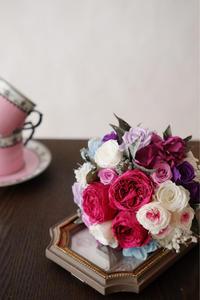 クラッシックなラズベリー色のブーケ - Sorriso Fiore ~花のある暮らしを~