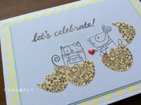 黄色×青色。イースターを盛り込んだ誕生日カード - てのひら書びより
