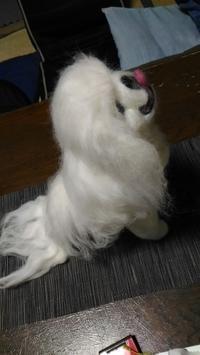 ペキニーズゴン太その3完成 - 羊毛フェルト男(羊毛フェルトマン)