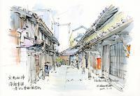 西陣浄福寺通の路地 - 風と雲