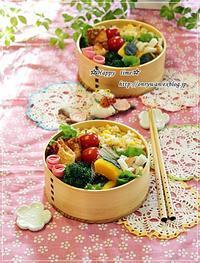 ささみチーズのパリパリ揚げ・炒飯弁当と~♪ - ☆Happy time☆