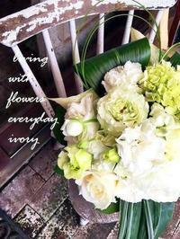 『IVORY花教室3MARCH楽しく終了しました〜♬』 -  Flower and cafe 花空間 ivory (アイボリー)