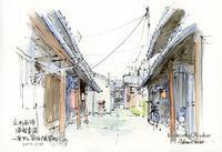 西陣浄福寺通一条下の路地 - 風と雲