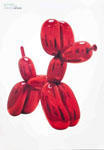 Jeff Koons: Balloon Dog (Red) ポスター - Satellite