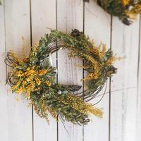 ミモザのドロップリース1dayレッスン③ - driedflower arrangement ✦︎ botanical accessory ✦︎ yukonanai ✦︎ gland*