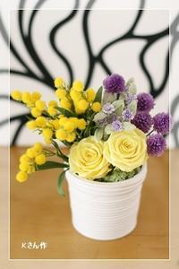 ミモザ アレンジ*レッスン - Flower letters