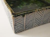 綾杉模様の角鉢 - うつわや紫野~きょうの一枚~