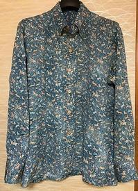 可愛い動物柄の着物地でご主人のYシャツ生徒の作品 - アトリエ A.Y. 洋裁教室