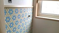 ヘキサゴンタイルのお手洗い - 成長する家 子育て物語
