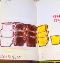 一日一絵   並んだ並んだカップが並んだ - ~メインクーンと一緒~デナちな日々