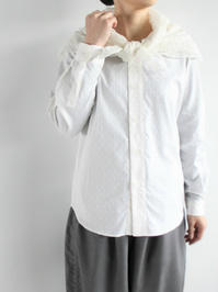ASEEDONCLOUDCeremony Shirt / Polka Dots Jacquard × Henna Lace - 『Bumpkins putting on airs』