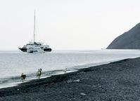 ストロンボリ島9.  黒い海岸で最後のひと泳ぎ - 風の記憶 Villa Il-Vento 2