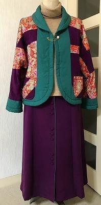 リフォームしたシルクのスカートを上着と合わせてみる - アトリエ A.Y. 洋裁教室