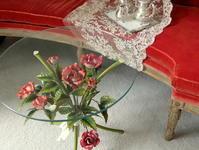 フランスアンティーク~バラのアイアンテーブルとリボンの鏡♪ - アンティークな小物たち ~My Precious Antiques~
