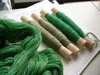 袋織り、麻絣のれん - テキスタイルスタジオ淑blog