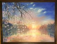 桜散る - ポッと出っスけど杉山ひとみ/水彩画ブログ