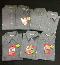 アメリカ仕入れ情報#27 デッドストック発見!!FIVE BROTHERS all cotton 半袖シャンブレーシャツ! - ショウザンビル mecca BLOG!!