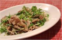 豆苗と豚の味噌炒め - おいしい便り