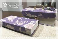 お気に入りの生地でペアのお道具箱♪ - Rosy Rosette カルトナージュ日記