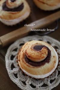 *こしあんぐるぐるパン* - ちょこちょこ*homemade Life