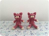 あみぐるみマスコットキットでピンクのねこ - あみぐるみブログ Keiko's Wool Life