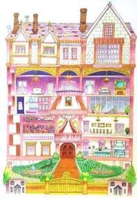おとなの塗り絵『マジカル・タワー』塗ってみました! - オトナのぬりえ『ひみつの花園』オフィシャル・ブログ