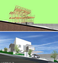 構造軸組 - Kenji Yanagawa Architect & Associates