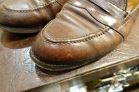 雨に濡れたコードバン - シューケアマイスター靴磨き工房 三越日本橋本店