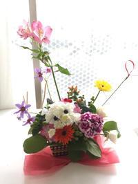 生徒さまレッスン - **おやつのお花*   きれい 可愛い いとおしいをデザインしましょう♪