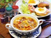 スパイス薬膳♪パプリカとトマトの美肌薬膳スープ。 - スパイスと薬膳と。