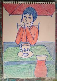 Day5 早めの晩ご飯 - たなかきょおこ-旅する絵描きの絵日記/Kyoko Tanaka Illustrated Diary