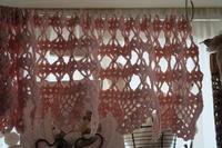 ミニカーテン編みました - 夢子さんのミシン