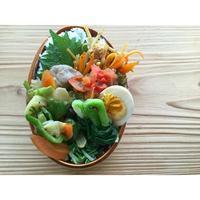 砂肝野菜炒めBENTO - Feeling Cuisine.com
