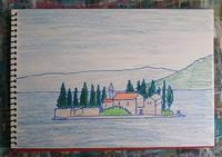 Day7 日帰りでモンテネグロへ - たなかきょおこ-旅する絵描きの絵日記/Kyoko Tanaka Illustrated Diary