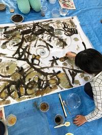 白濱雅也・テンペラワークショップ@こどもクラブ - arts alive blog